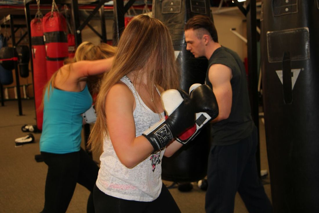 Women's Boxing training at Bancroft Boxing and Fitness Health Club, Framingham Ma
